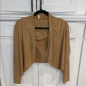 tan suede light jacket